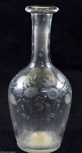 20 Glass Vase Old Vintage Rare Clear Glass Vase Great Beautiful Design