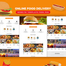 online food delivery website template free psd download download psd