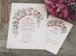vintage wedding invitations vintage wedding invitation with floral wreath need wedding idea