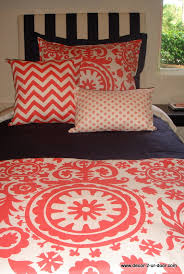Coral Colored Comforters Coral Dorm Room Bedding Decor 2 Ur Door