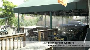 Patio Fans With Misters by Outdoor Misting Systems Misting System Mist Cooling Blog