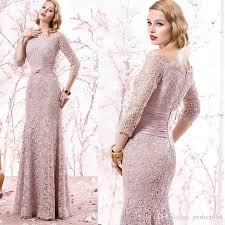 mermaid peach evening gowns formal suits plus size lace mother of