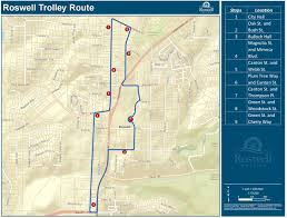 Trolley San Francisco Map by Roswell Is Piloting Free Downtown Trolley Service On Weekends