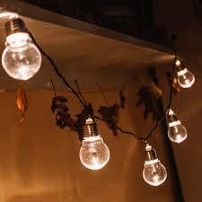 thrisdar 5cm big globe solar string light garland outdoor 5m