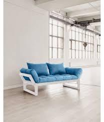 futon azur edge blanc futon horizon bleu futon azur
