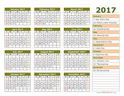 2017 us calendar printable 2018 calendar with holidays usa uk canada nz sa get printable