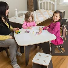 modern kids table and chairs american made children table and