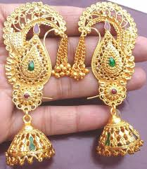earrings gold design see pics designer south indian gold earrings designs24 india news
