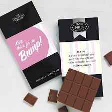 for the bump u0027 pregnancy chocolate by quirky gift library