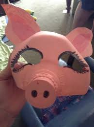 diy pig mask made from milk water jug diys pinterest pig