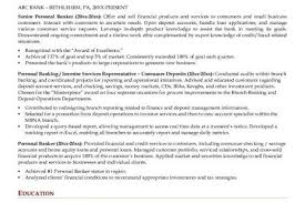 Personal Banker Sample Resume by Personal Banker Resume Personal Banker Resume Samples Free