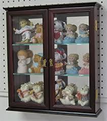 small curio cabinet with glass doors amazon com small wall mounted curio cabinet shadow box glass door