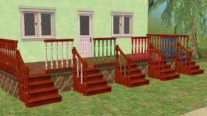 Height Of Handrails On Stairs by Mod The Sims Recolors Of Hugelunatic U0027s Recolorable Steadfast