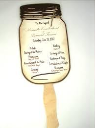 jar wedding programs items similar to wedding program jar wedding program fans