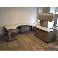 Office Desks Calgary Knoll Morrison Modern 4 Pc Height Adjustable C U Suite Desk