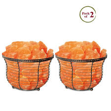 himalayan glow ionic crystal salt basket l hand carved salt l free candle holder