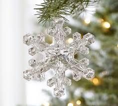 acrylic mirrored snowflake ornament pottery barn