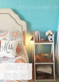 d i y ladder shelf bedside table