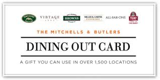 dining gift cards mitchells butlers m b gift cards to be sold in 2 000