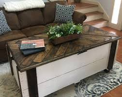 Rustic Chest Coffee Table Trunk Coffee Table Etsy