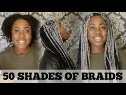 grey and purple combined together style box breads 50 shades of braids how to grey box braids gracey mae youtube