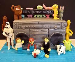 ugly dolls u2013 star wars u2013 lego u2013 domo boom box cake artisan cake