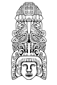 coloring pages mayan mask 2 coloring pages