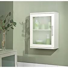 White Bathroom Cabinet With Glass Doors Bathroom Wall Cabinet Of Simple Living With Tempered