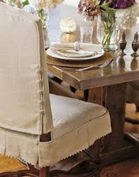 Vinyl Dining Room Chair Covers Slipcover A Side Chair Dressmaker Style Dining Chairs