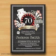 casino birthday card poker playing card birthday invitation casino