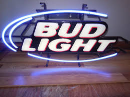 l k bud light beer small neon light up sign bar game room