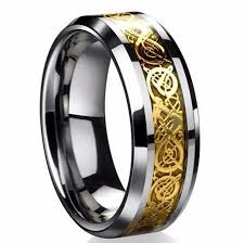cool rings images Cool men 39 s silver celtic dragon titanium stainless steel wedding