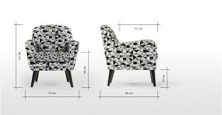 Black Accent Chair Accent Chair Graphic Print Black And Grey Johan Made Com