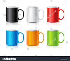 set realistic coffee tea cups isolated stock vector 354905591