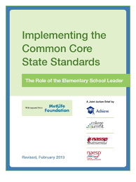 implementing the common core state standards the role of the