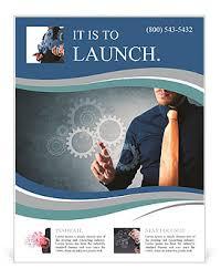 engineering brochure templates free gears of engineering work flyer template design id 0000008760