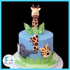 1st birthday cake baby safari 1st birthday cake blue sheep bake shop
