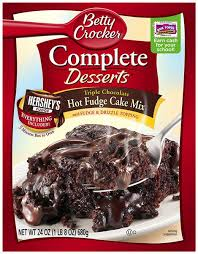 betty crocker complete desserts triple chocolate fudge cake