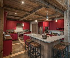 exterior contemporary barn kitchen design with brown wooden