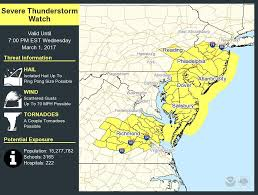 Virginia Power Outage Map by Severe Thunderstorm Threat Results In Only Isolated Strong Winds