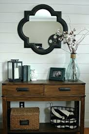foyer table and mirror ideas foyer mirror ideas nice way to refresh the foyer plank wall entryway