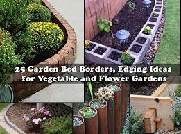 Flower Bed Border Ideas 25 Garden Bed Borders Edging Ideas For Vegetable And Flower Gardens