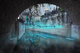 waller creek light show ha architecture creek show 2017
