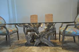 Bases For Glass Dining Room Tables Glass Top Tables Driftwood Decor