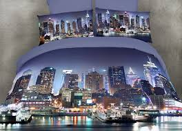 New York Bed Set King Size Luxury Duvet Cover Set City Themed By Dolce Mela Bedding