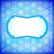 frozen icy blue frame with snowflakes pattern royalty free