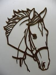 hand crafted horse head metal wall art country rustic home decor