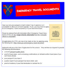emergency travel document images Bfg hive emergency travel documents need to know information PNG