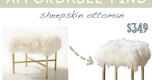 design dump affordable find sheepskin stool