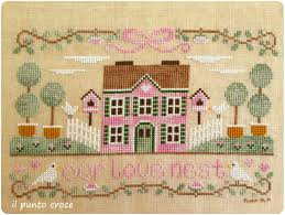 our love nest country cottage needleworks il punto croce